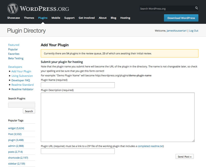 wordpress-submit-plugin-form-wordpress-repository